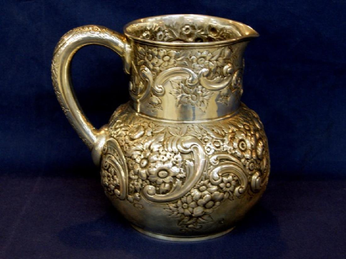 Tiffany Sterling Repousse Water Pitcher