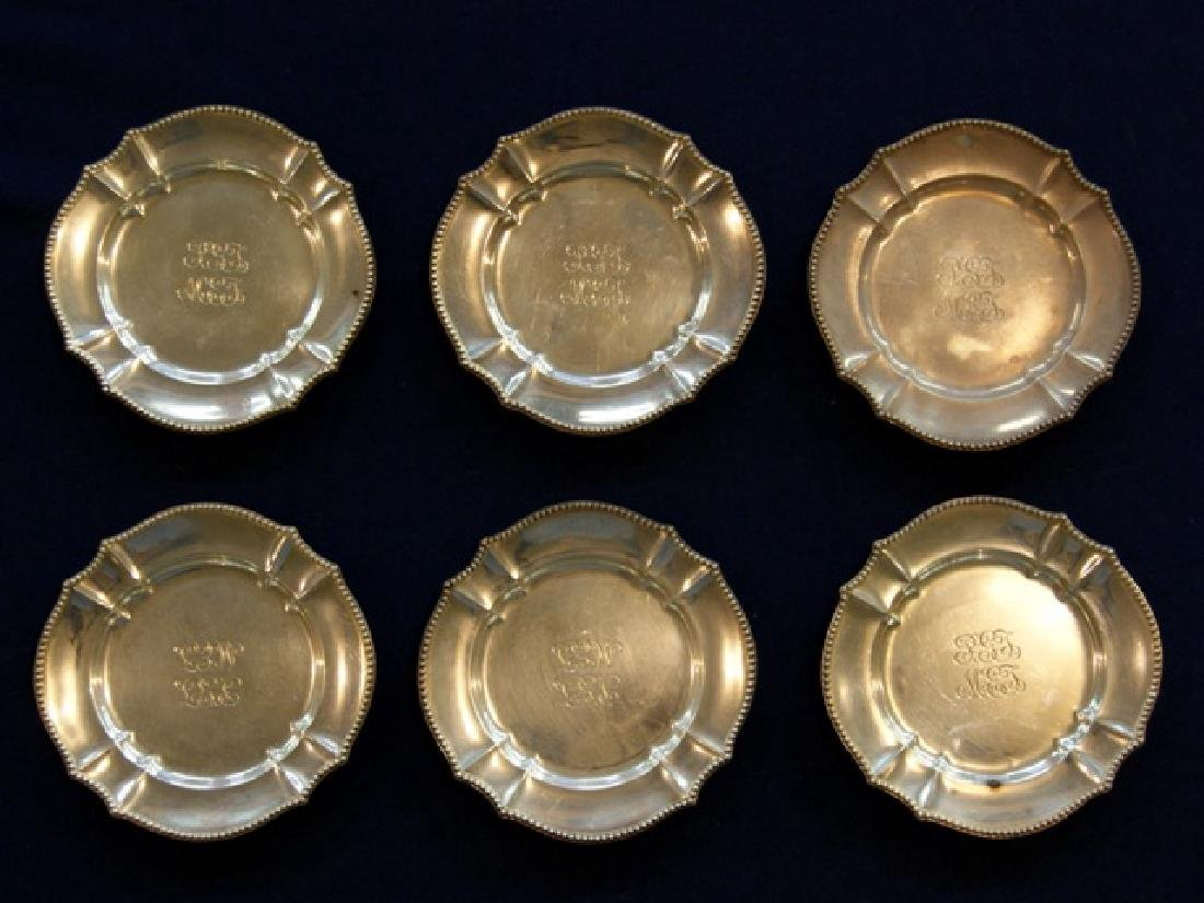Tiffany Six Sterling Bread Plates