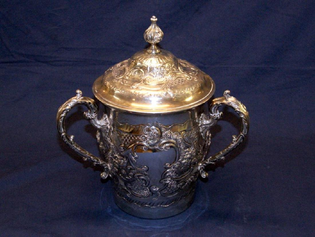English Victorian Sterling Large Loving Cup