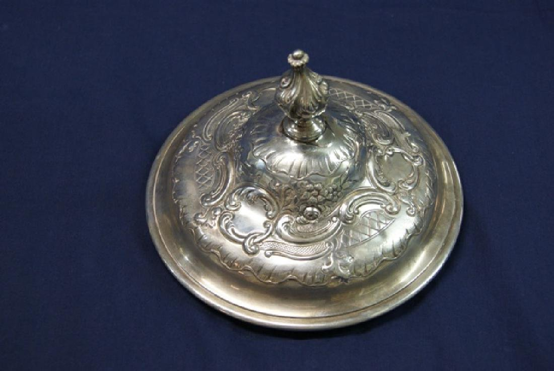 English Victorian Sterling Large Loving Cup - 2