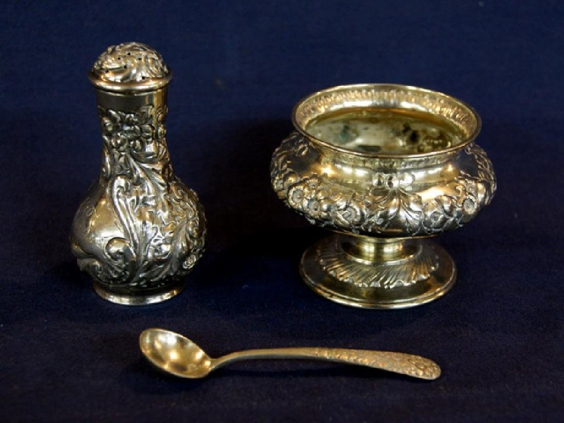 Howard Sterling Repousse Salt & Pepper & English