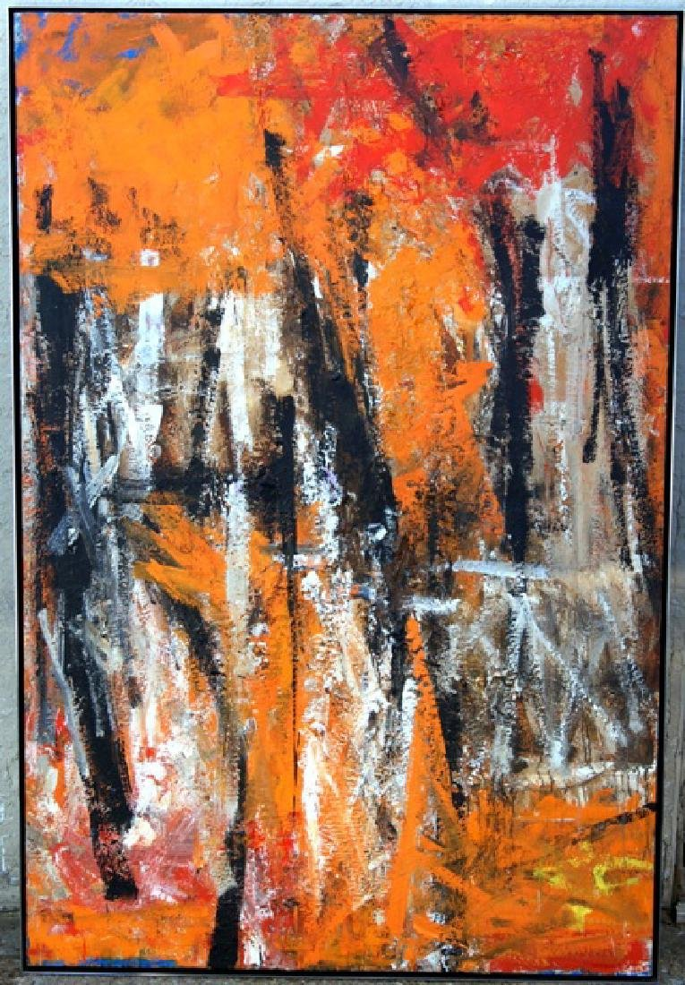 Fritz Bultman Abstract Expressionist Large Oil Painting