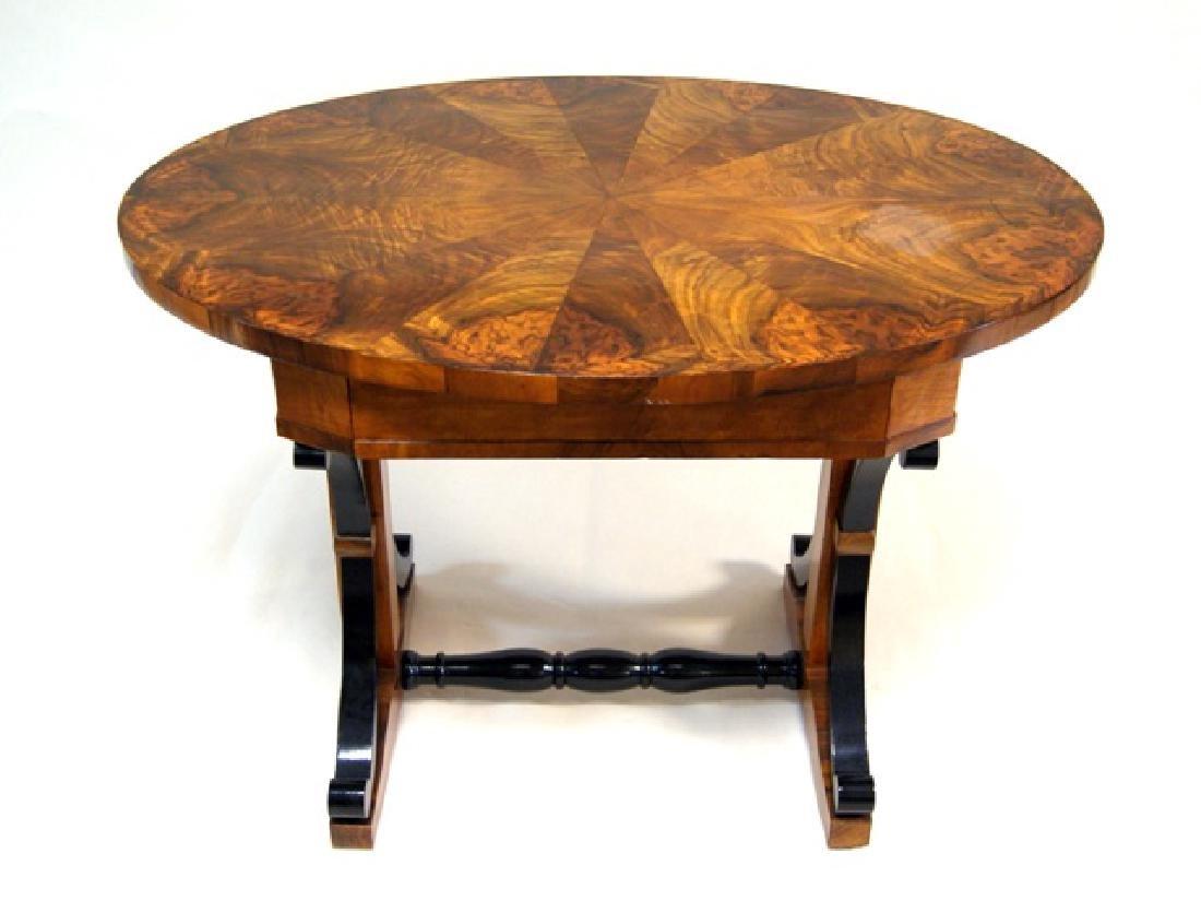Biedermeier Walnut Side Table