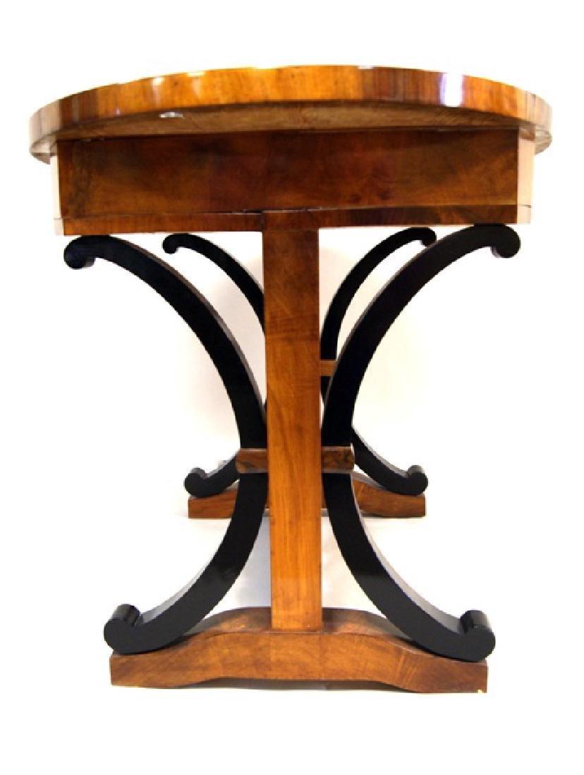 Biedermeier Walnut Side Table - 2