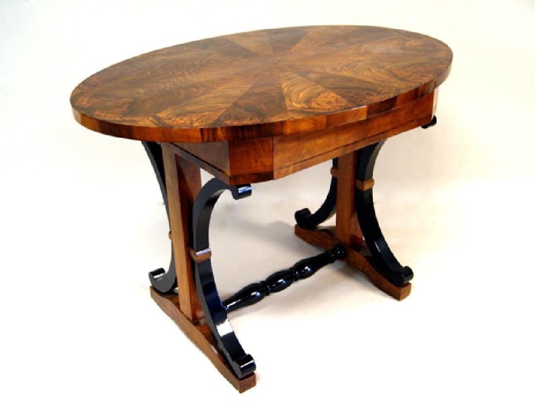 Biedermeier Walnut Side Table - 3