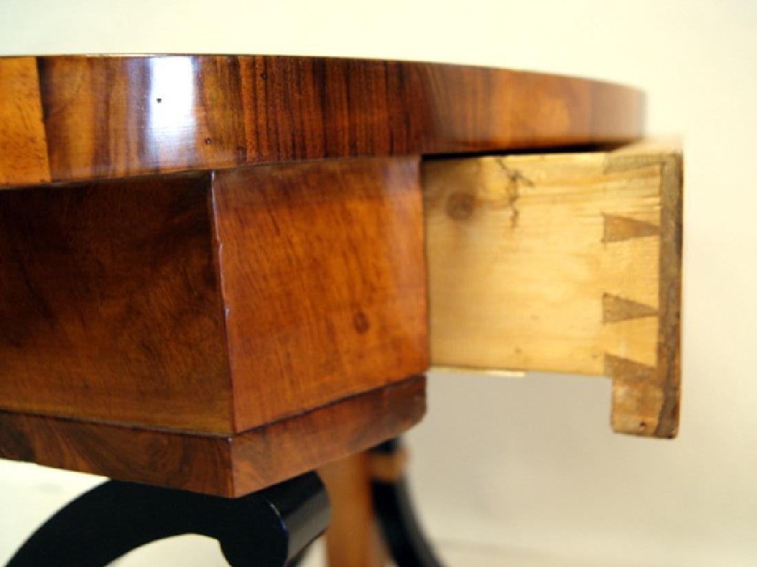 Biedermeier Walnut Side Table - 5