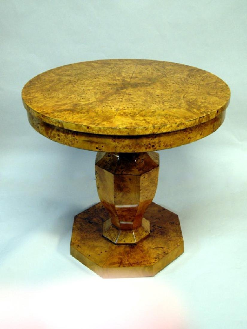 Biedermeier Elm Side Table