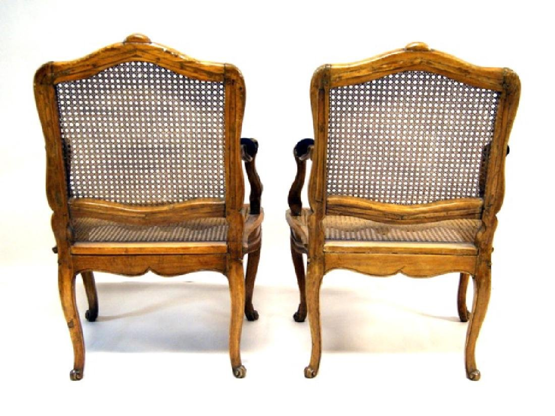 Pair French Antique Mahogany Armchairs - 2