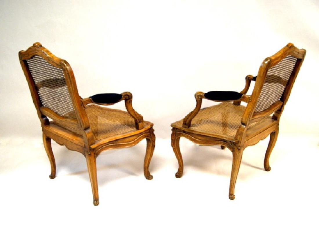 Pair French Antique Mahogany Armchairs - 3