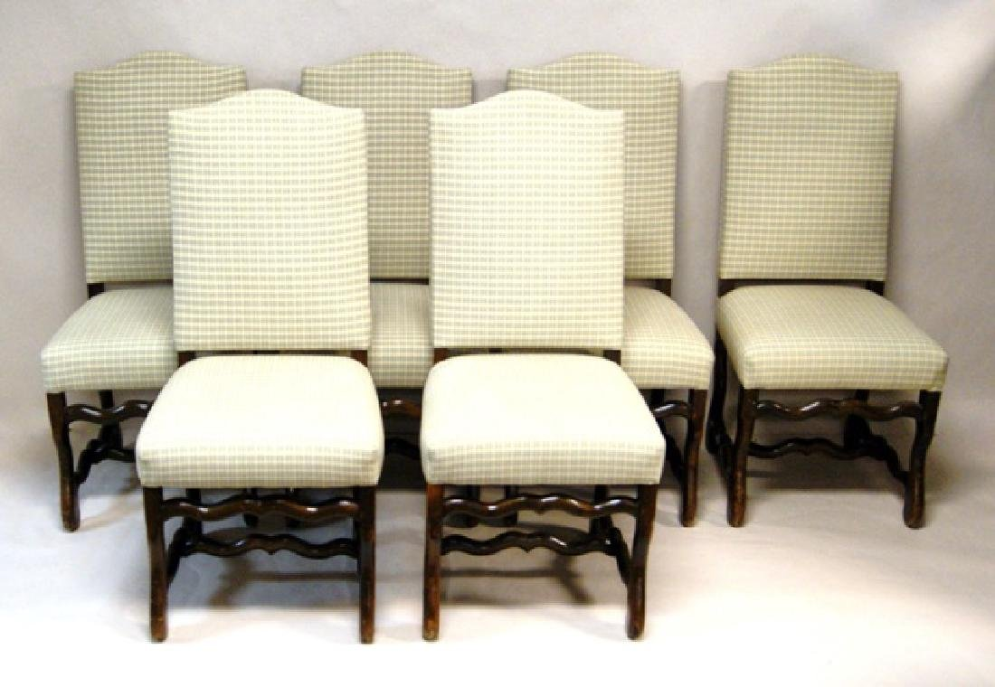 Six Upholstered Dining Room Chairs