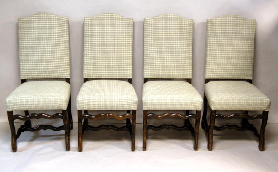 Six Upholstered Dining Room Chairs - 2