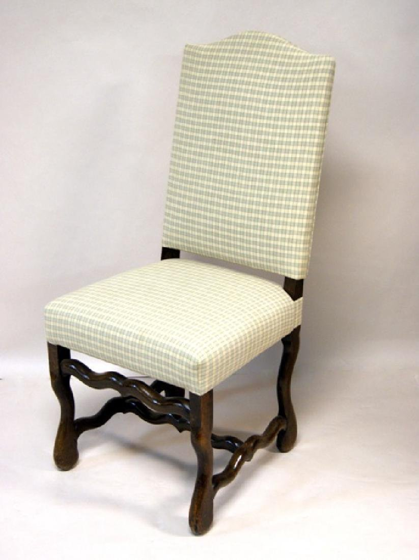 Six Upholstered Dining Room Chairs - 4