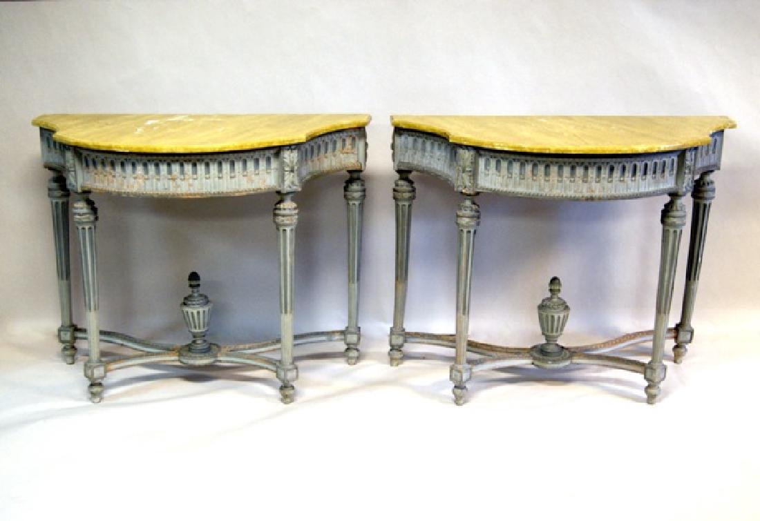 Pair of French Wood Pier Planters