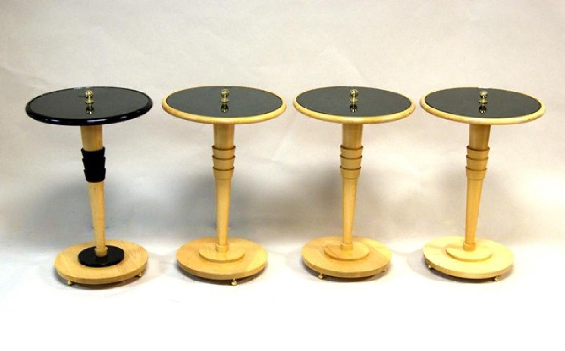 Set Four Contemporary Round End Tables