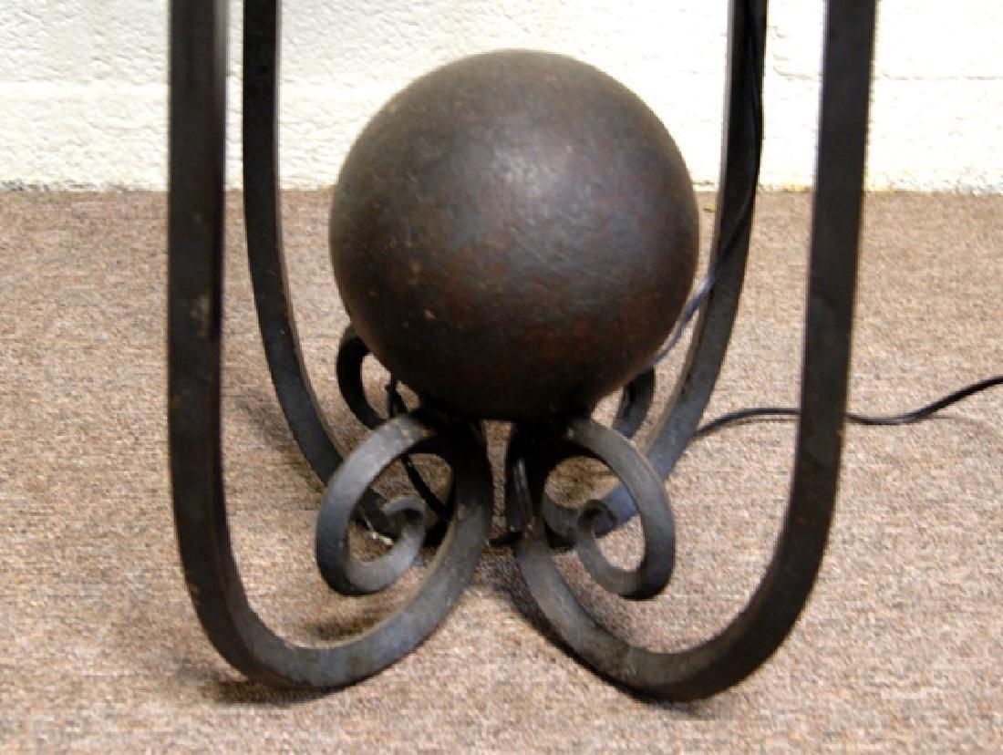 Pair Iron/Copper Floor Lamps - 2