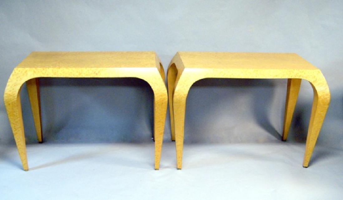 Pair Bird's Eye Maple Tables