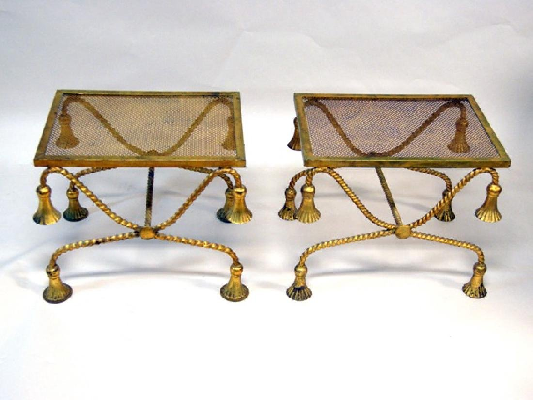 Pair Gold End Tables