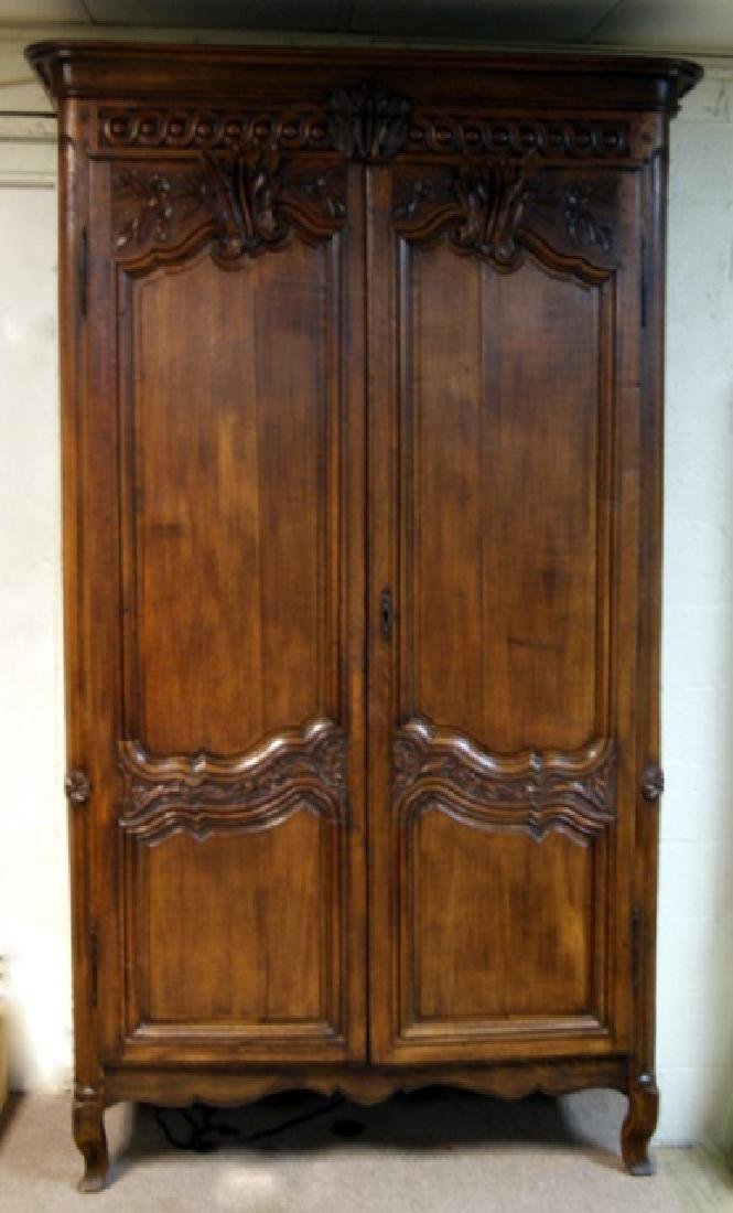 Large French Oak Armoire with Modernized Bar Interior
