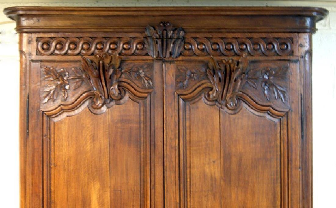Large French Oak Armoire with Modernized Bar Interior - 3