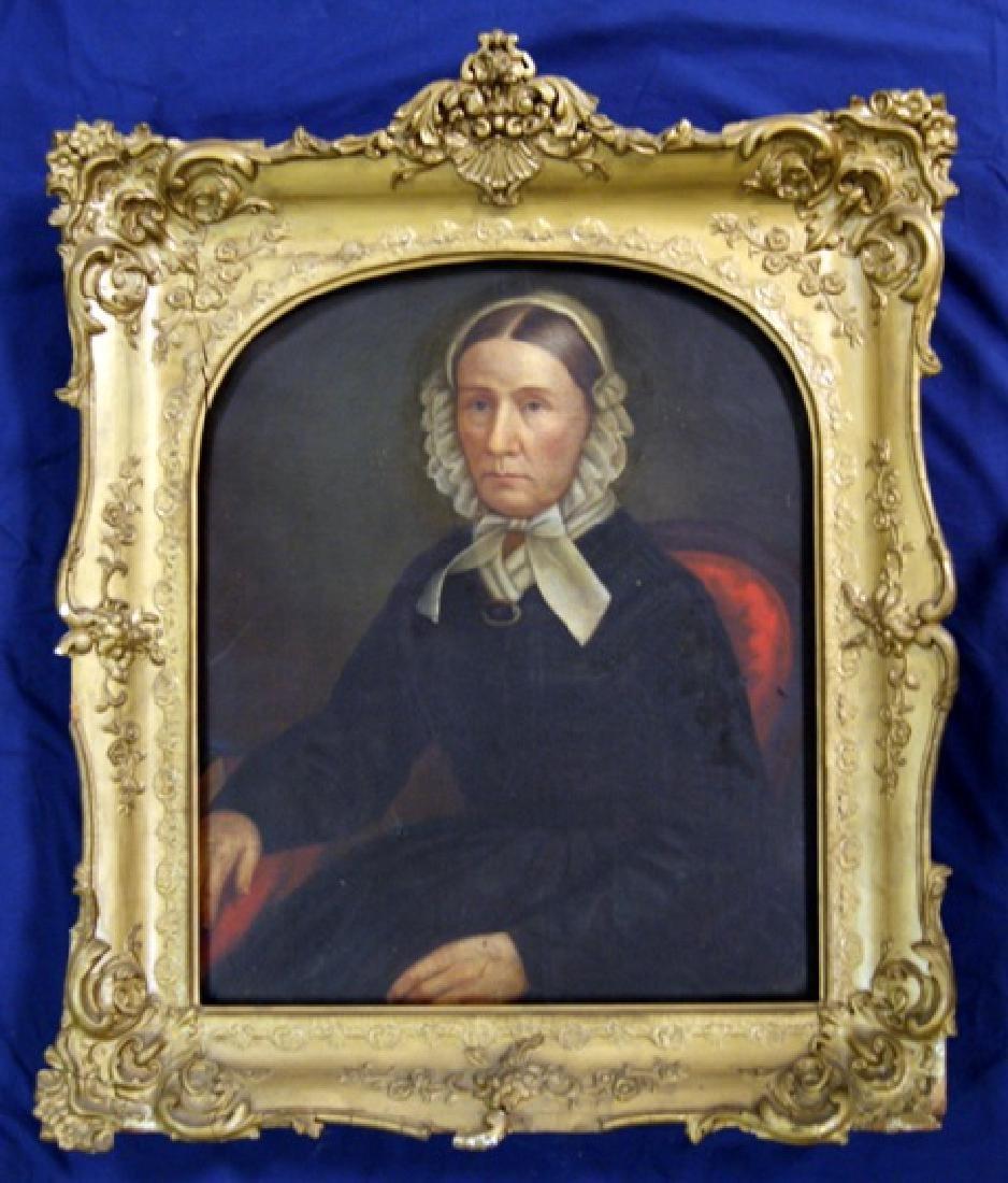 19th Century Lady's Portrait Oil Painting