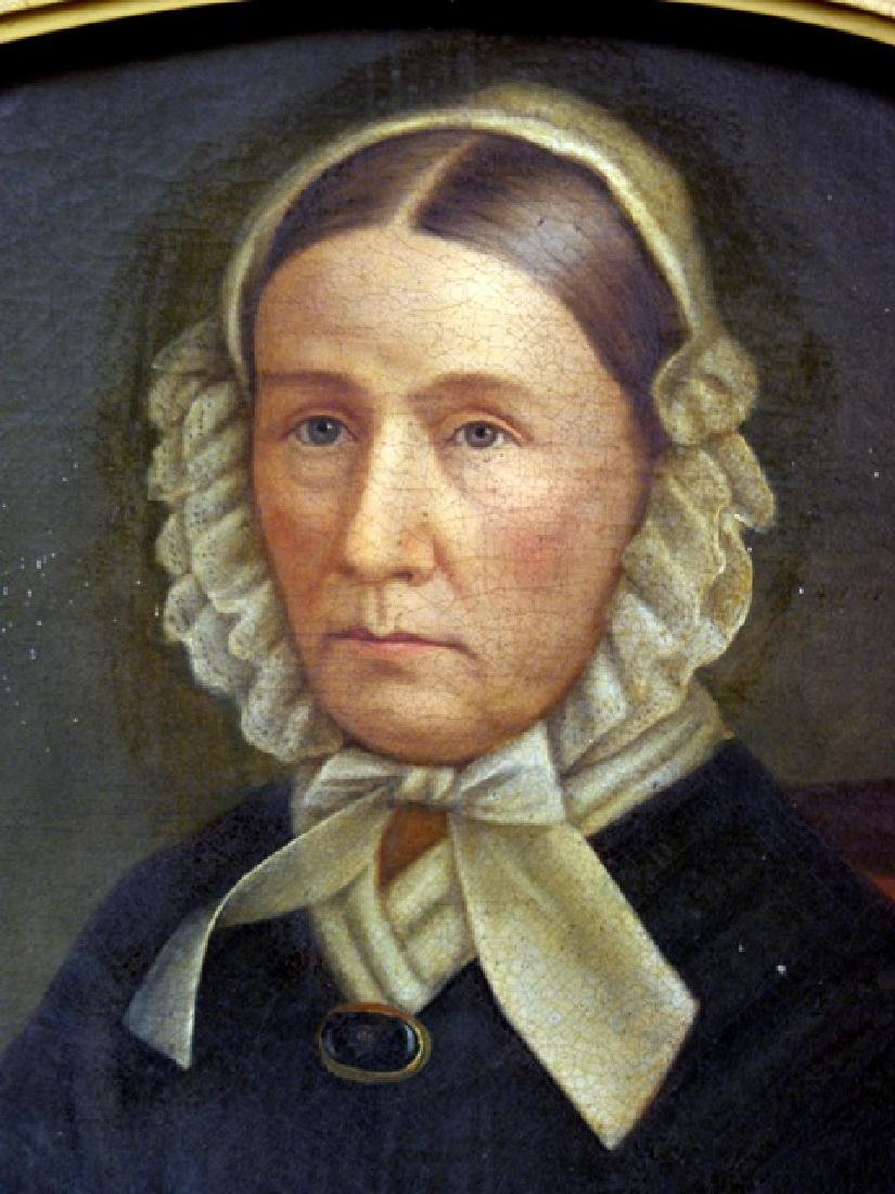 19th Century Lady's Portrait Oil Painting - 2