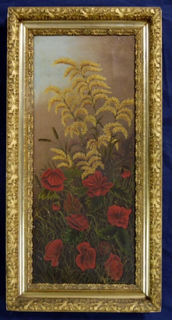 19th Century Floral Oil Painting