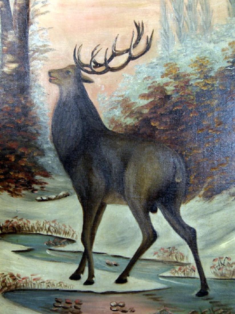 19th Century Elk Painting - 2