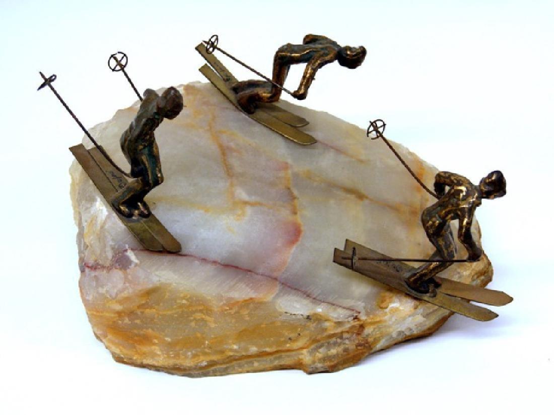 Curtis Jere' Skiers Sculpture