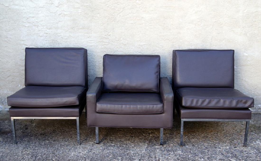 Three Milo Baughman Thayer Cogin Mid-Century Chairs