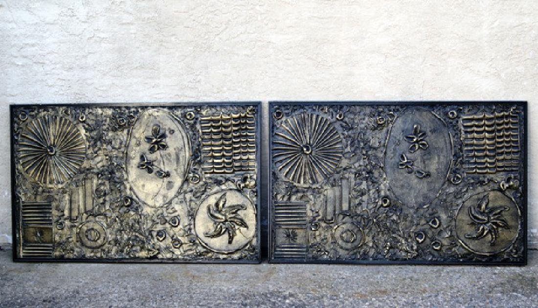 Adrian Pearsall Mid-Century Pair of Wall Sculptures