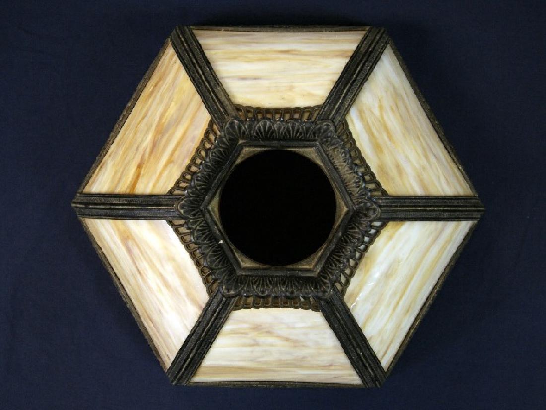 Miller Co. Slag Glass Panel Lamp - 5