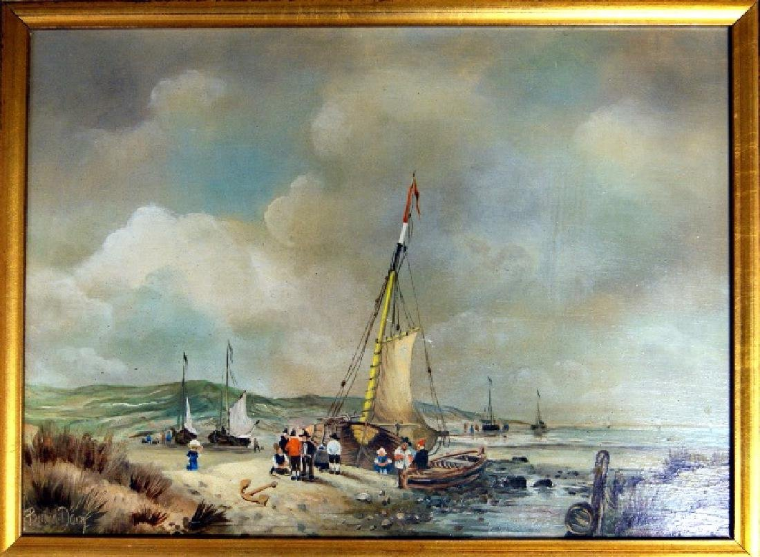 Early 20th C. Harbor Painting - 2
