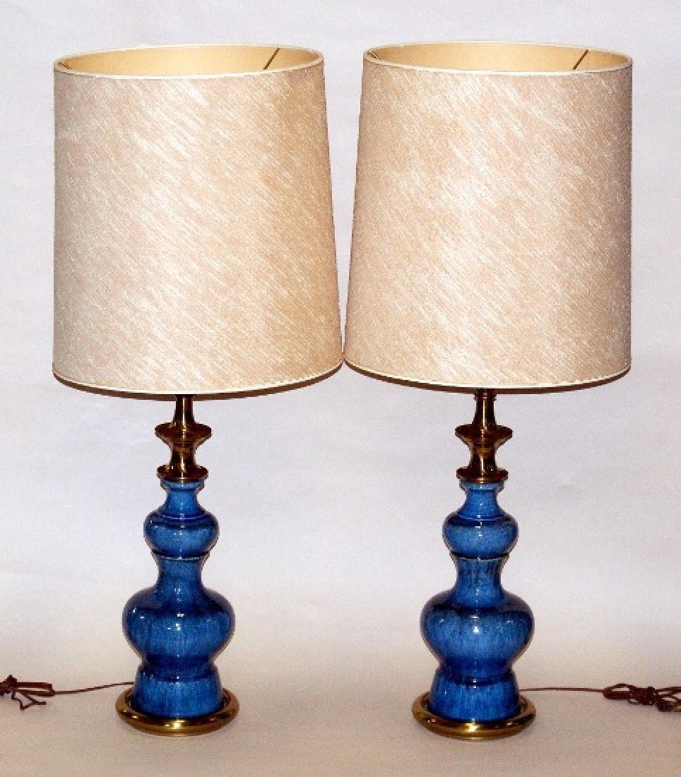 Pair Stiffel Mid-Century Lamps