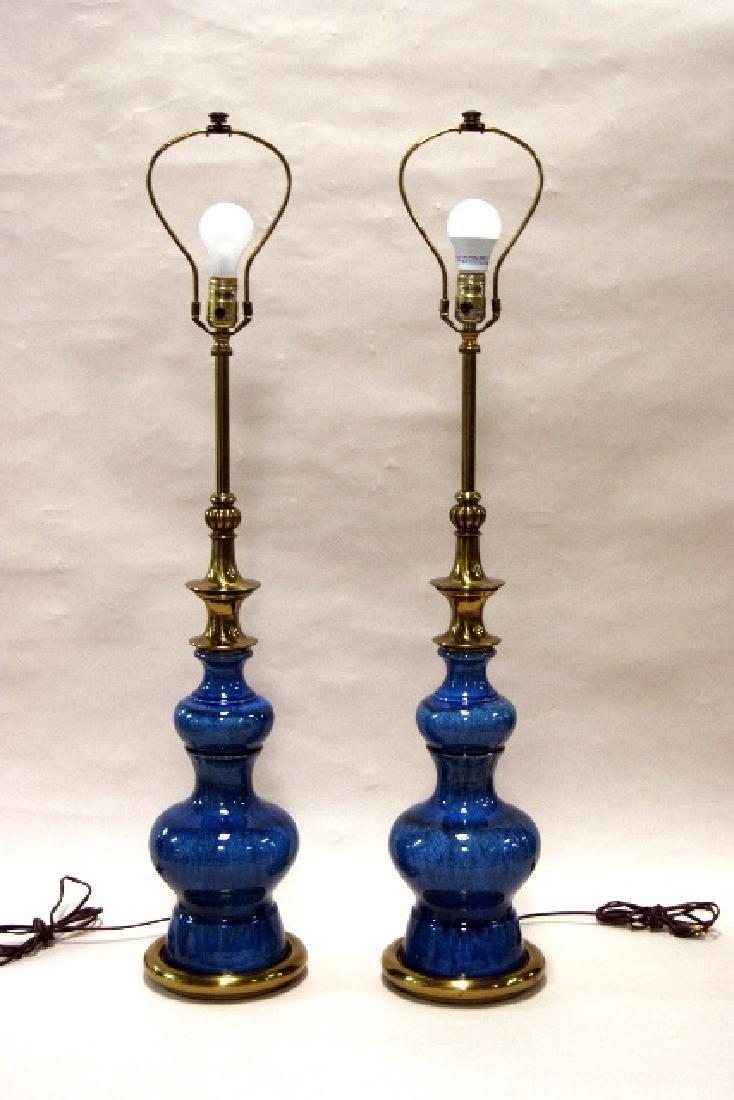 Pair Stiffel Mid-Century Lamps - 2
