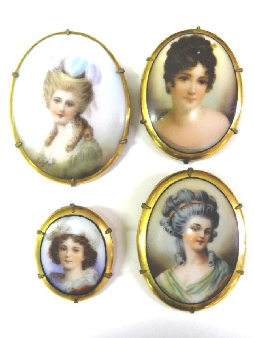 Porcelain Lady Pins
