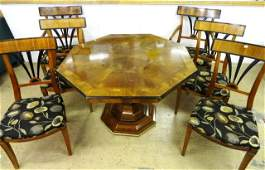 Contemporary Inlaid Table  Chairs