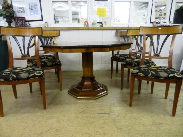 Contemporary Inlaid Table & Chairs - 2
