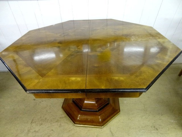 Contemporary Inlaid Table & Chairs - 5