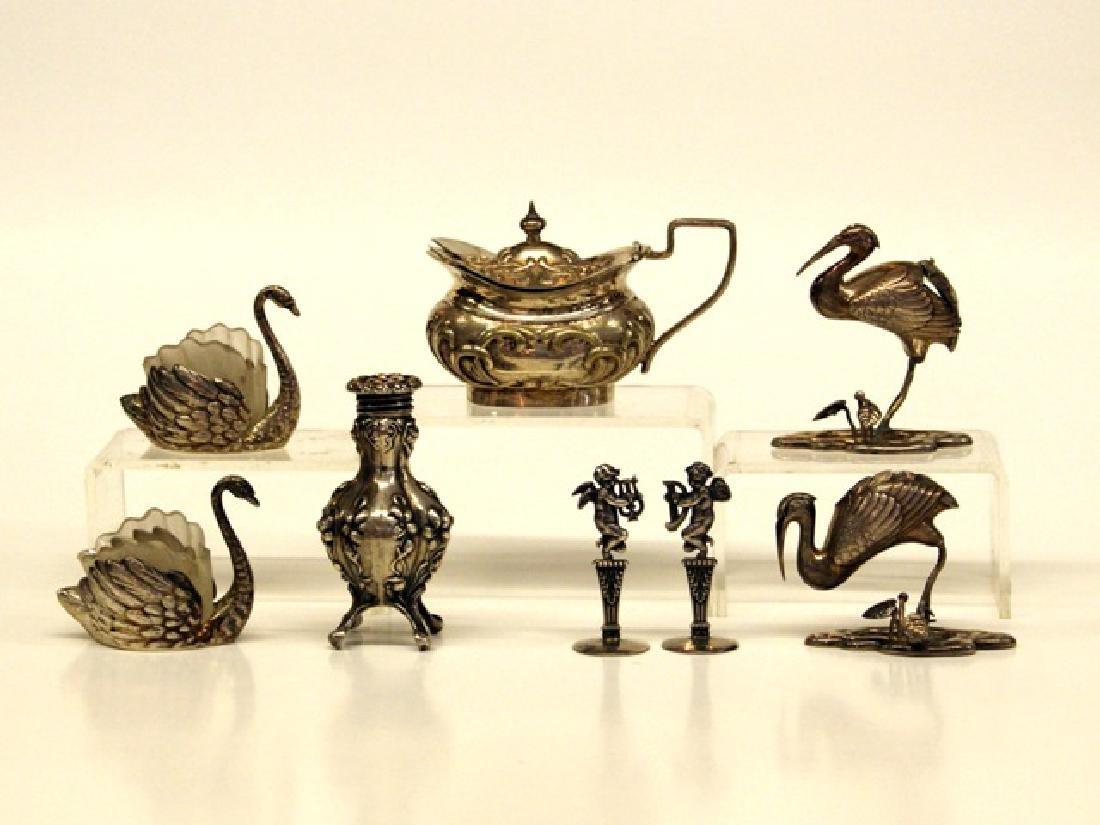 Silver Figural Salt Dishes & Holders