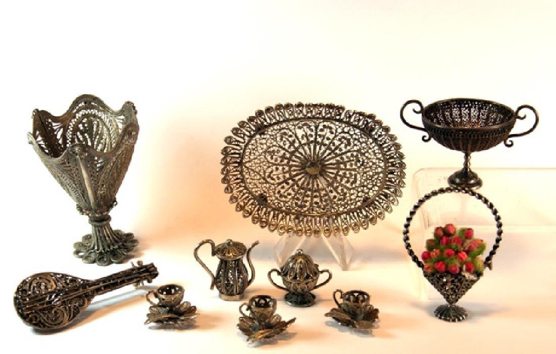 Group Silver Filigree Miniatures