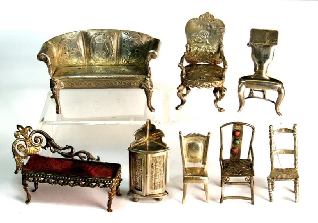 Silver Miniature Furniture