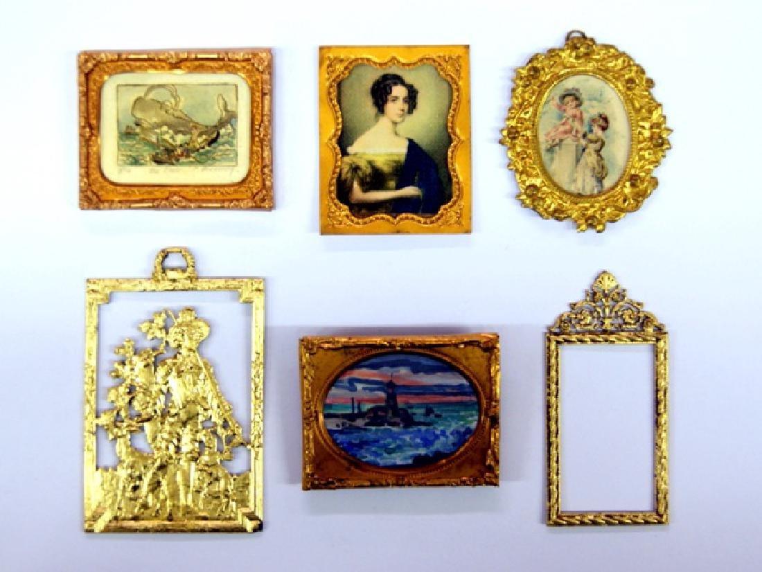 Five Ormolu Miniature Frames