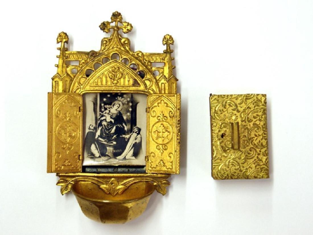 German Miniature Ormolu Icon & Box