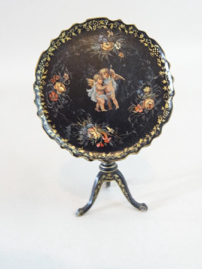 Natasha Painted Rococo Tilt-Top Table