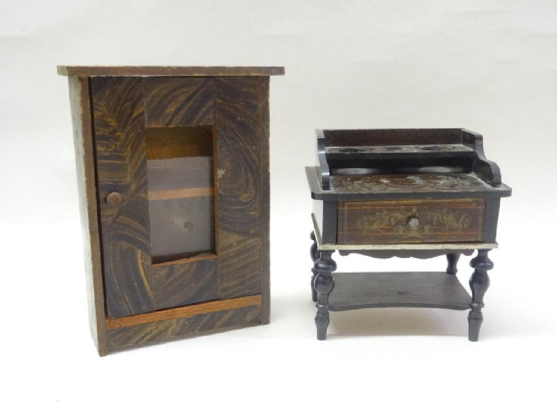 Biedermeier Writing Table & Wardrobe Dollhouse