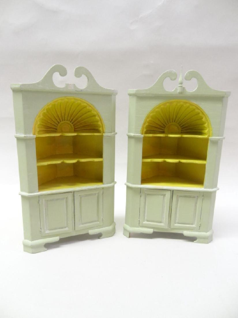 Dollhouse Miniature Pair Norton Corner Cupboard