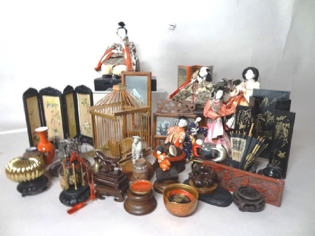 Grouping Oriental Dolls & Accessories