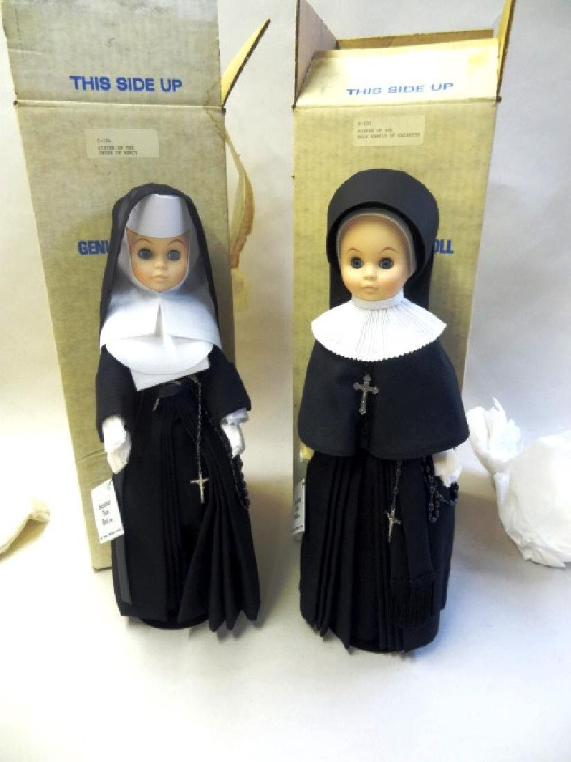 Two Genuine Nun Dolls