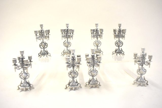 Dollhouse Miniature Sterling Silver  Candelabras