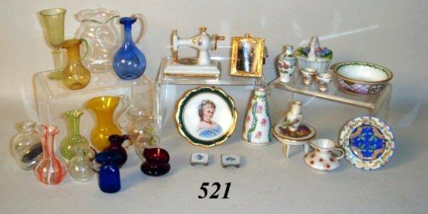 521: Blown Glass, Limoges, Glassware